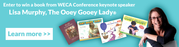 Click here to enter to win a book from WECA Conference keynote, the Ooey Gooey Lady!